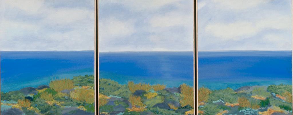 "Sea Through the Windows, #33, oil on canvas, 30"" x 72"", sold"