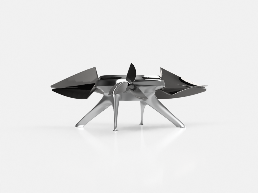 Drone Concept - March 2017 / Based on Sergey airfoil blades. Designed and rendered in Fusion 360