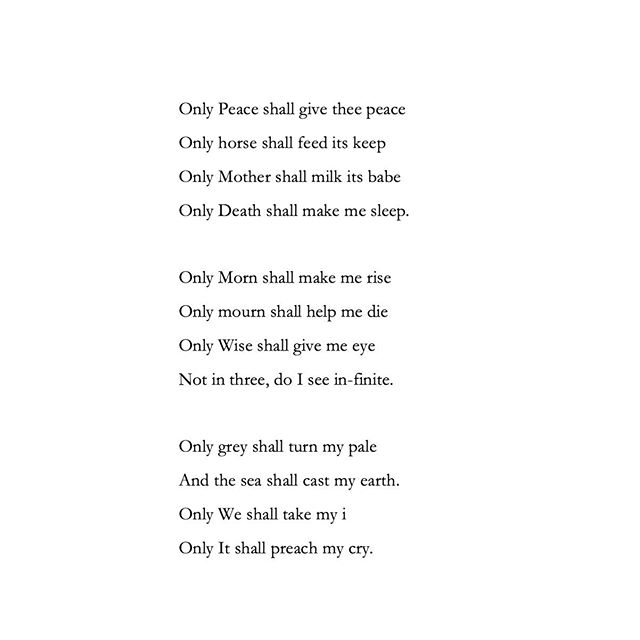 190815  Only Peace shall give thee peace  #poetry