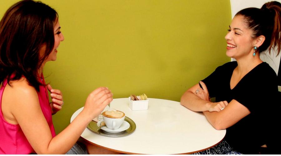 Tania Haigh and MBG's Gabriela Garcia. Photo Credit: Brissa Hanzel,  Breeze Art Creatives