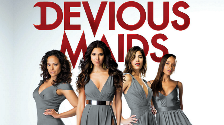 "Reyes (left) and her ""Devious Maids"" cast"
