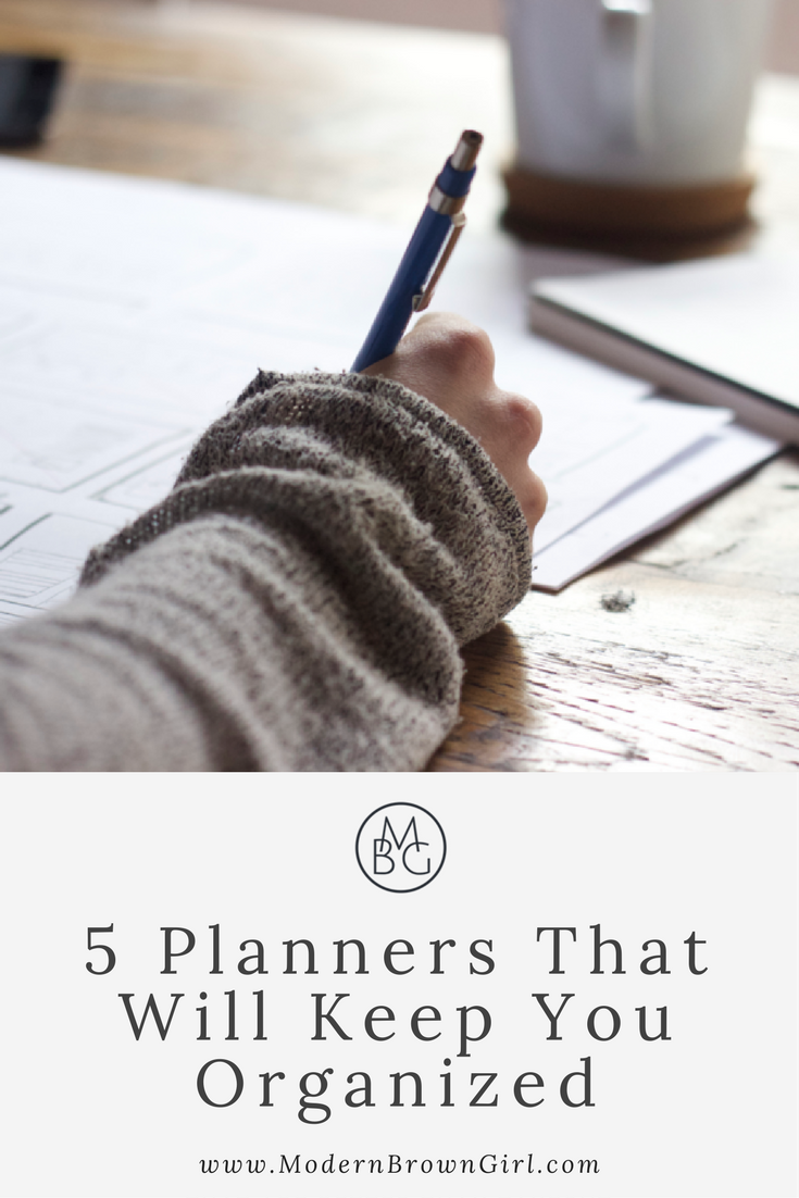 5 planners that will keep you organized