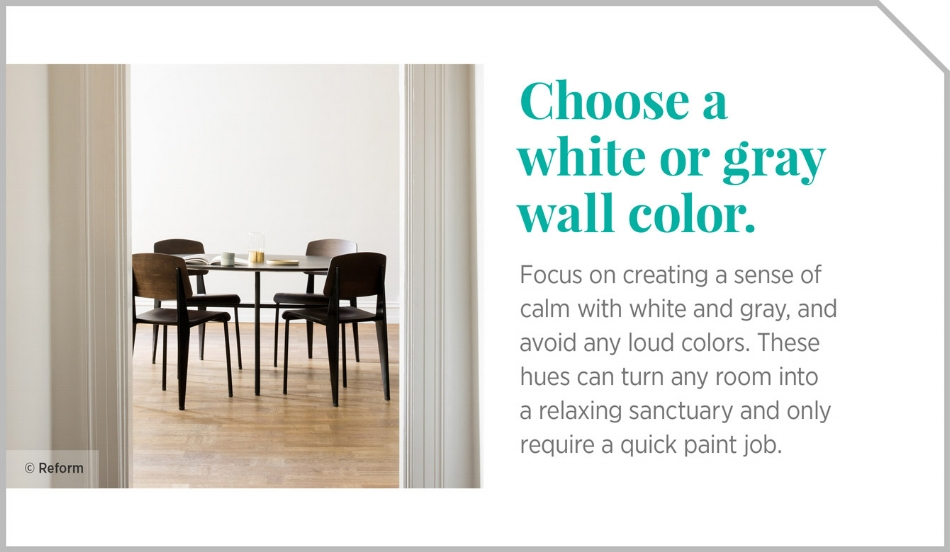 Choosing a white or gray wall color