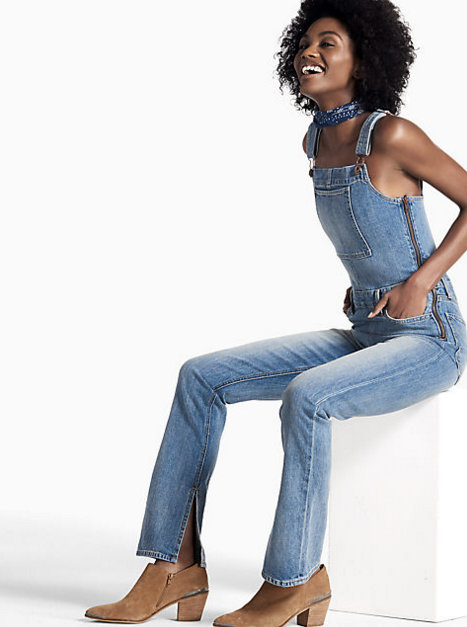 Fitted Denim Overalls by Lucky Brand - $129