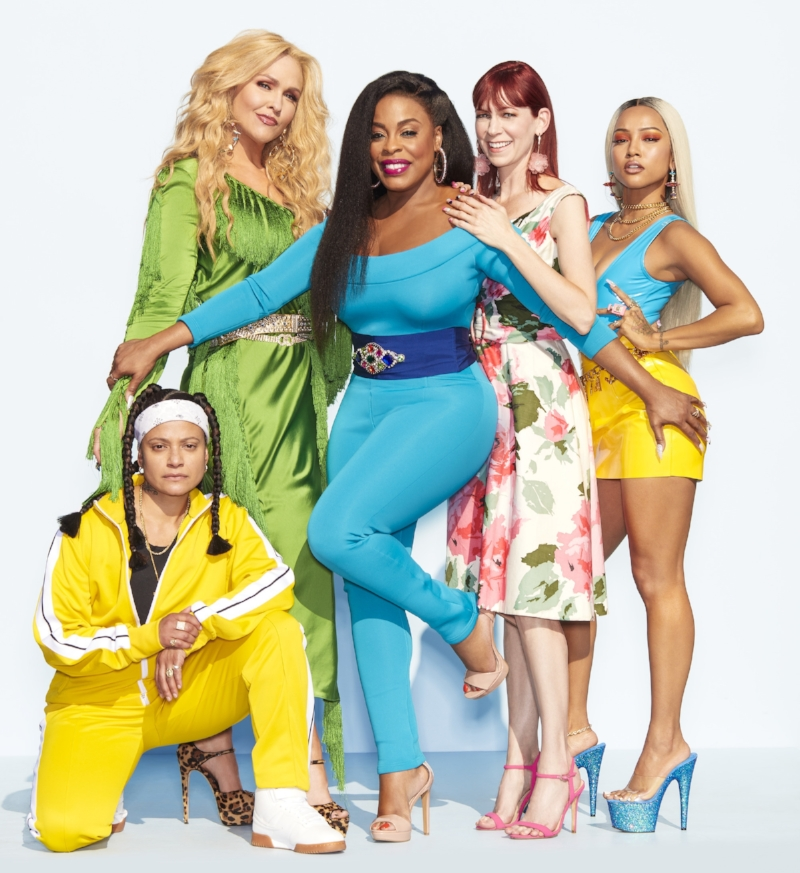 "The ""Claws"" cast: Niecy Nash, Carrie Preston, Karruche Tran, Judy Reyes, and Jenn Lyon."