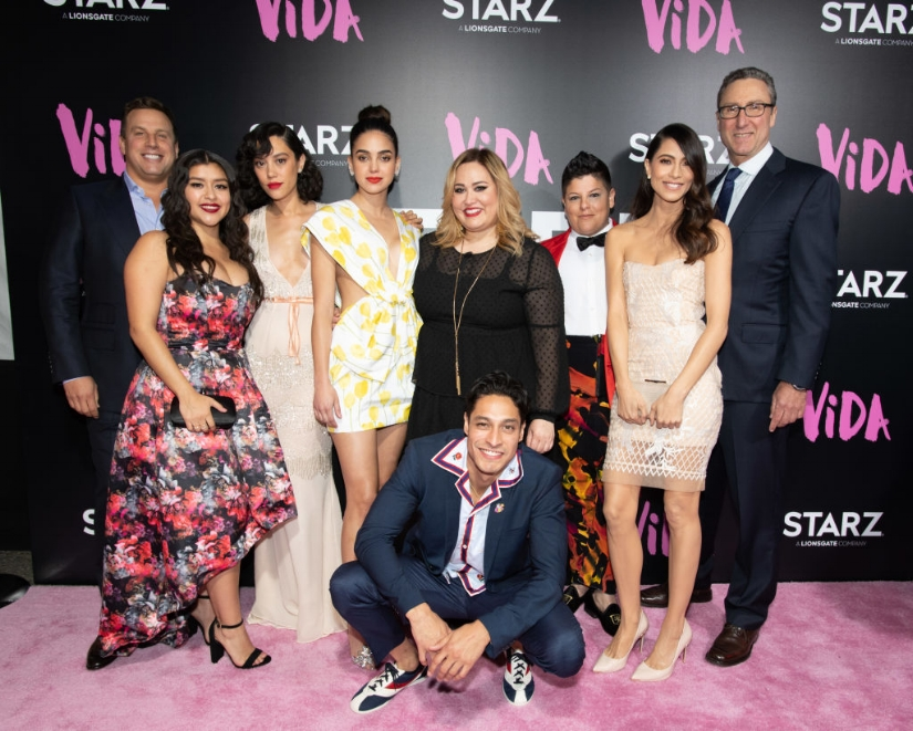 Tanya Saracho (center) with the Vida cast