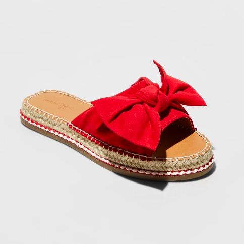 5. Bow Espadrille Sandals - $24.99