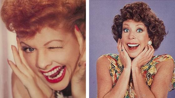 From left: Lucille Ball, Carol Burnett
