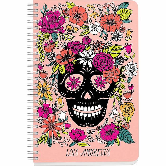 Paper Source - Skull Floral Custom Journal, $19.95