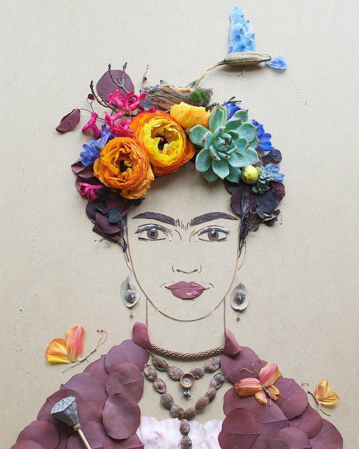 "Sister Golden - ""Mama Bird Frida"" Flower Print, $35"