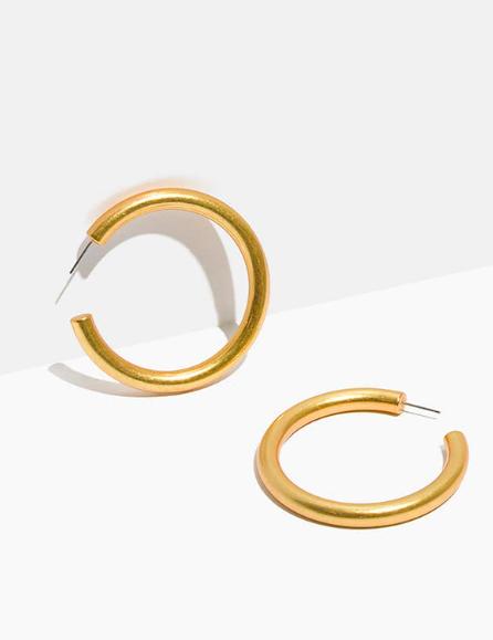 Madewell - Chunky Oversized Hoop Earrings, $28