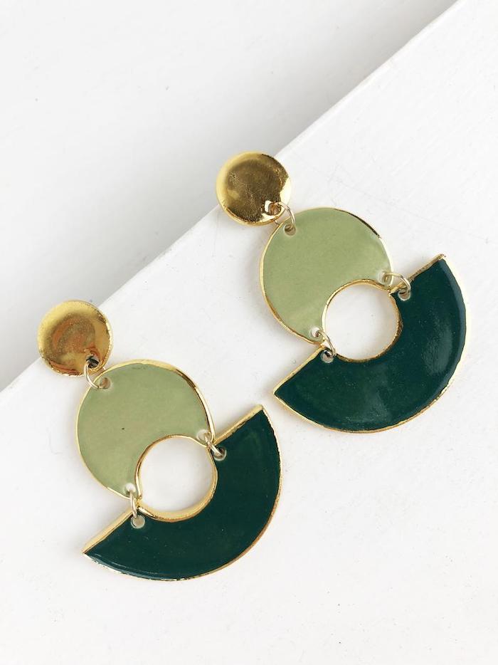 Etsy - 22K Gold Luster Overglaze Earrings, $54.40