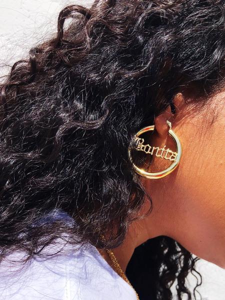 You'll Love: - Bonita Gold Hoops, $30