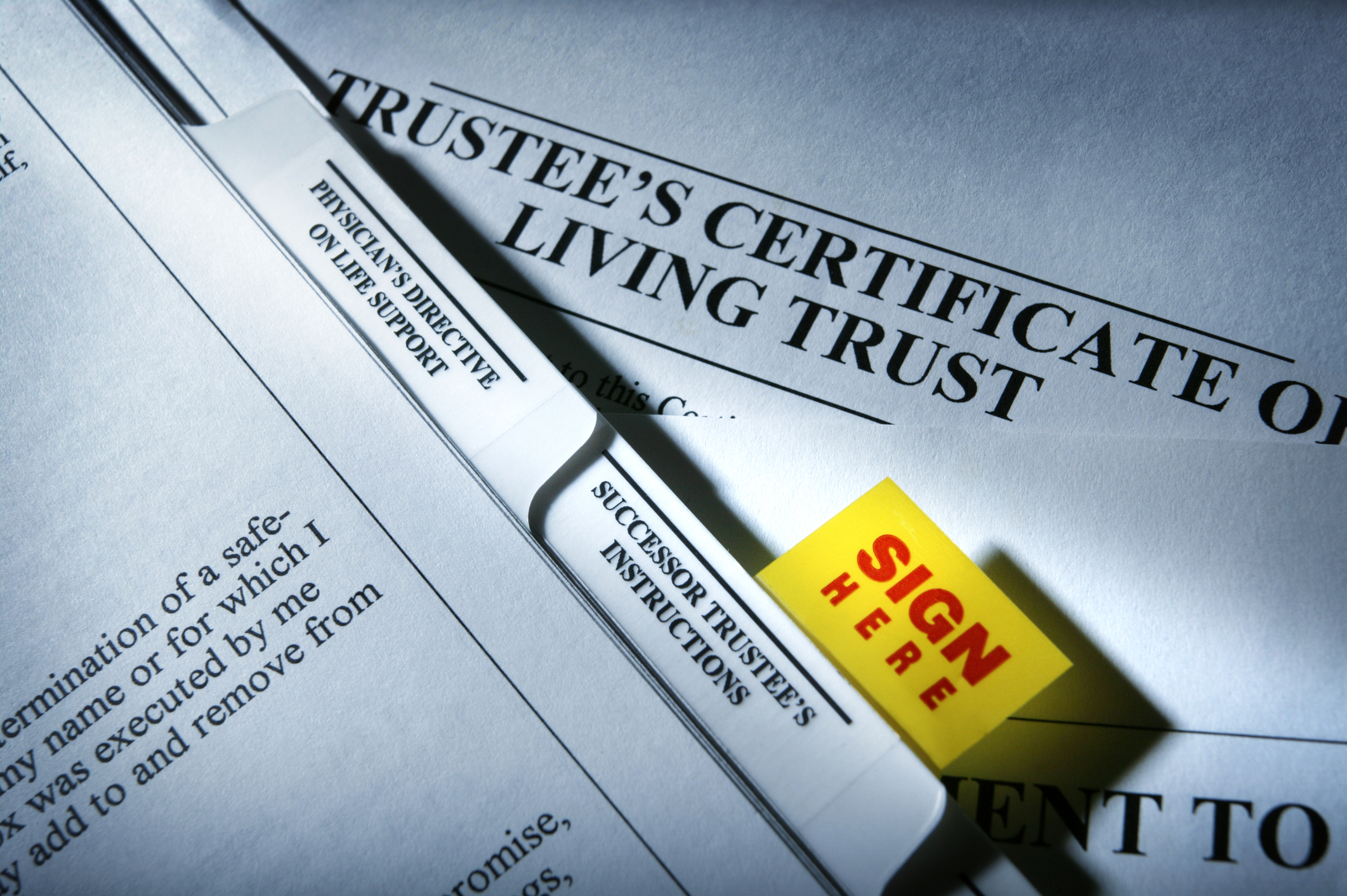 Living trust documents drafted to be clear and understandable.