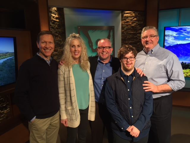 Melissa, Robert and Trevor Hendershot interview with President Jim Daly (right)                                   and Co-host John Fuller (left) of Focus on the Family.