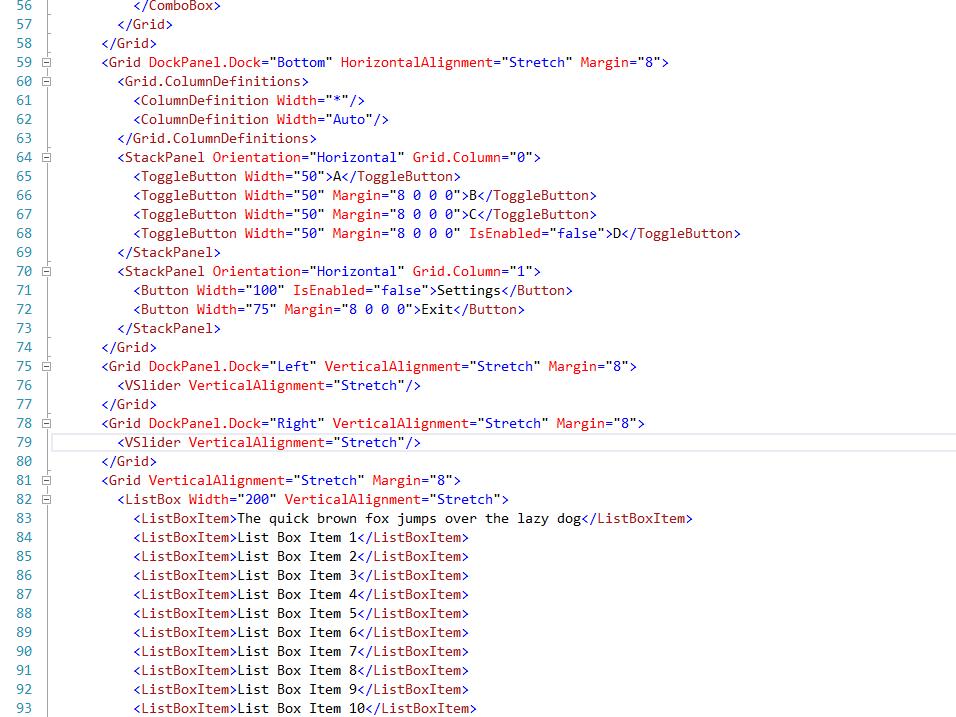 XML-based UI Design
