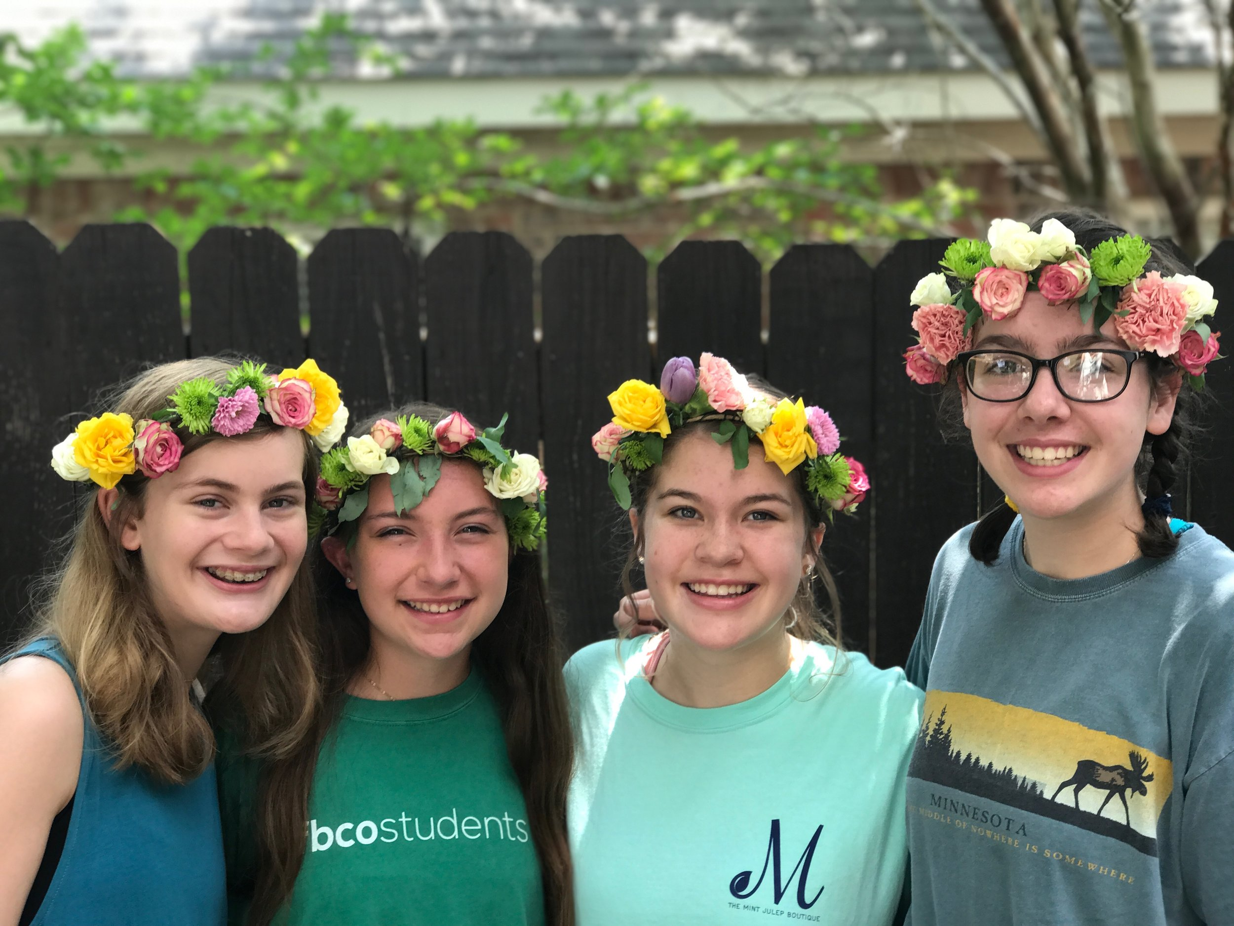 A final result of some flower crowns!