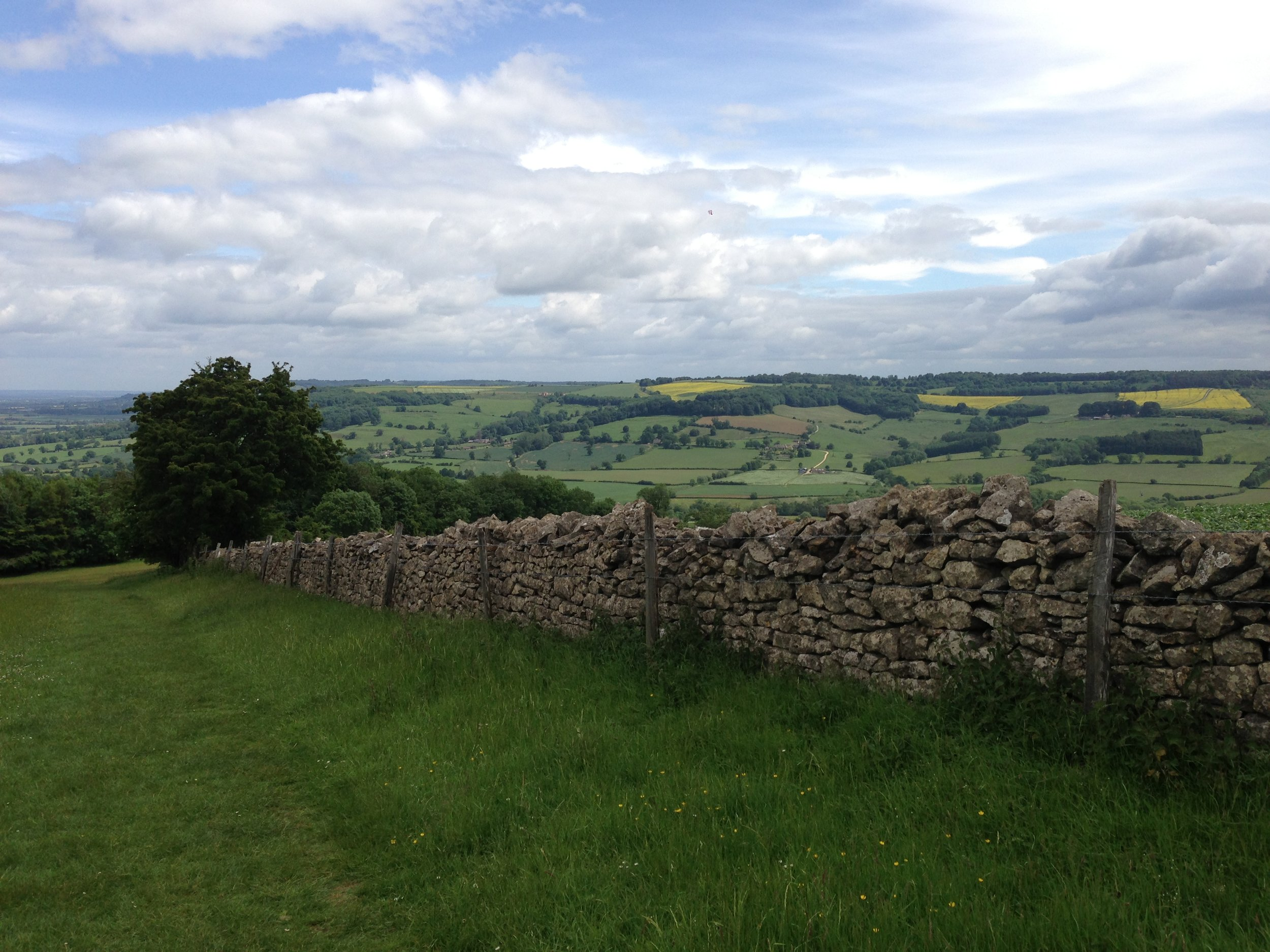 Up on the Cotswold Way, above Winchcombe
