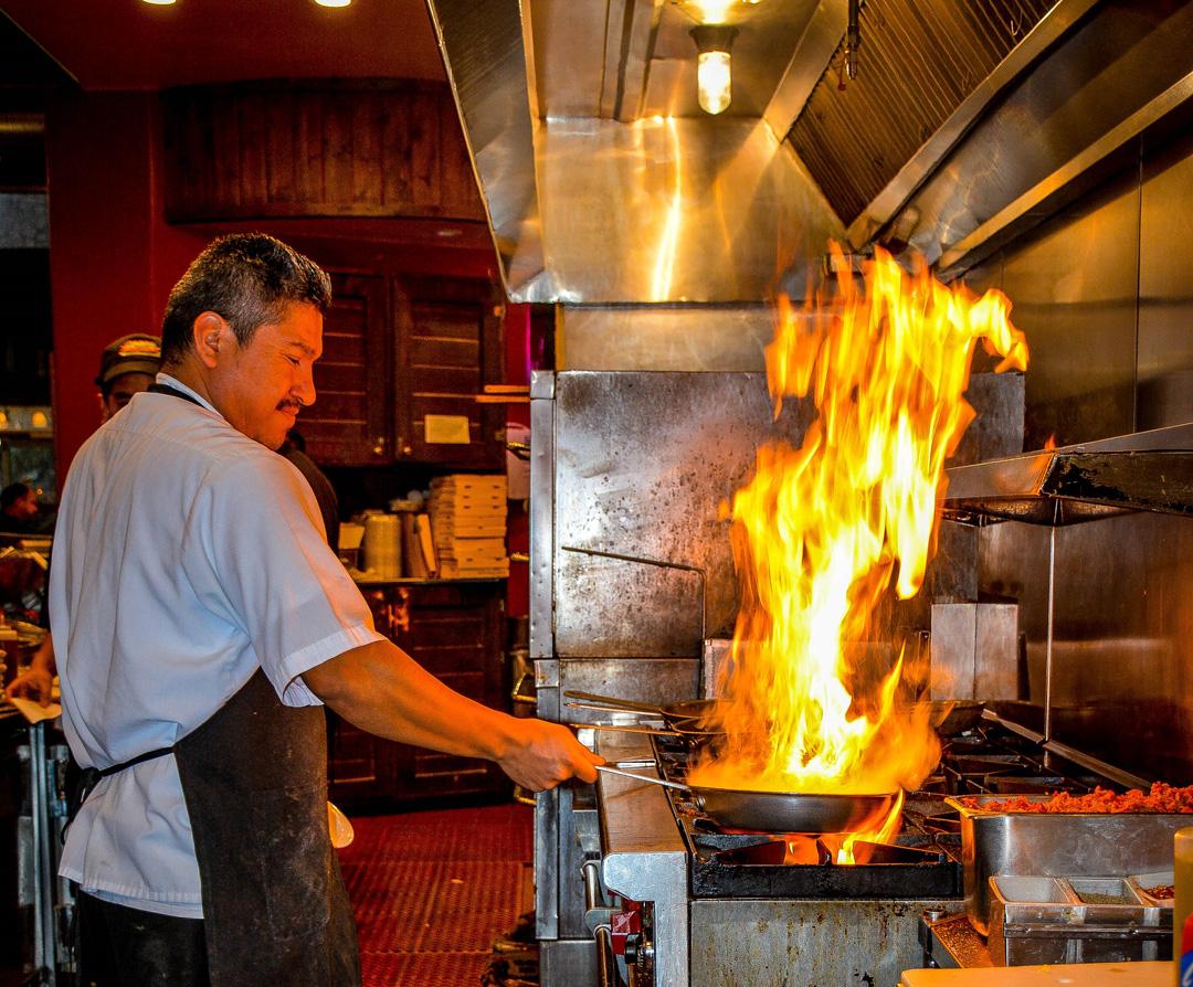 Flamming Kitchen
