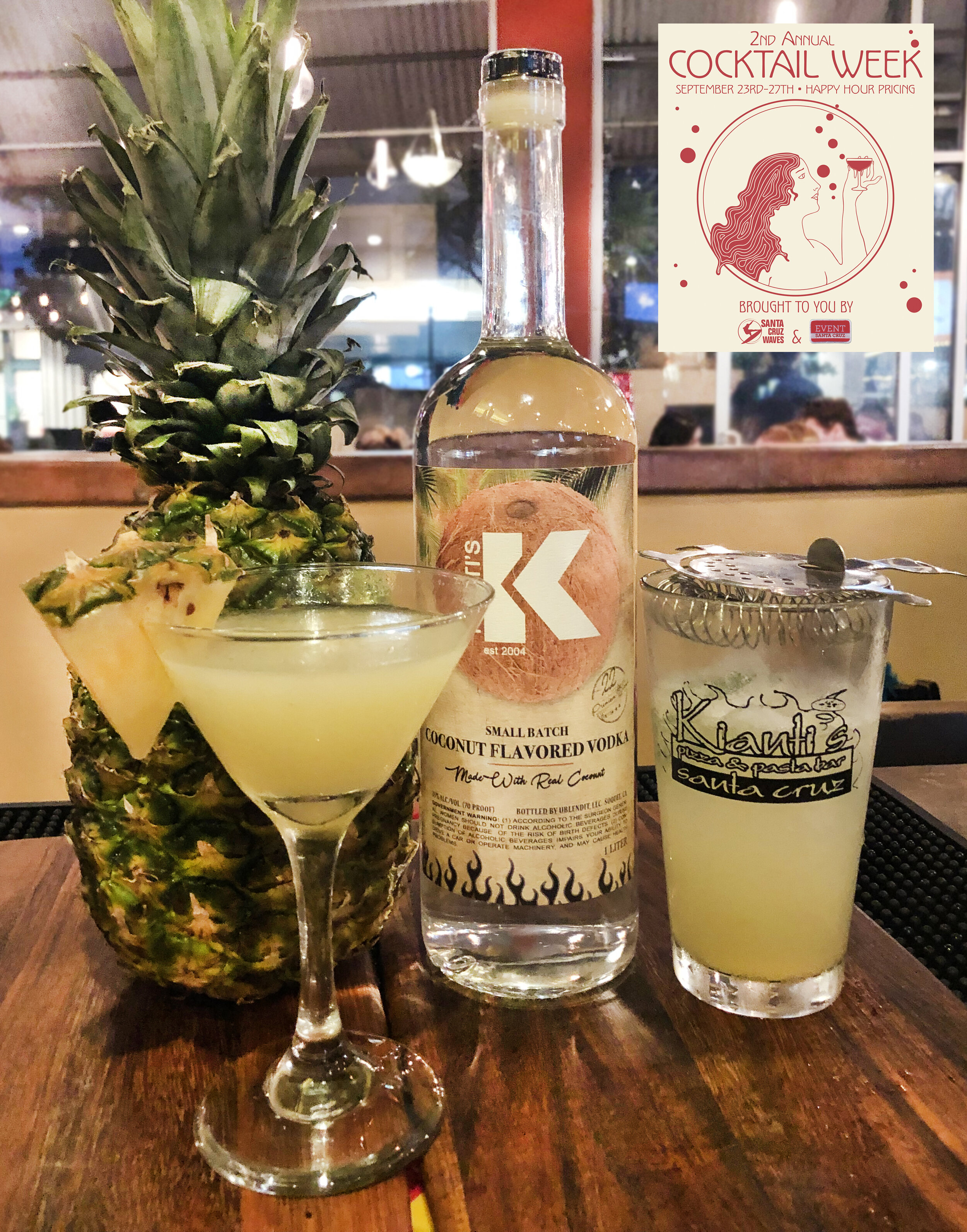 "Kianti's ""Put The Lime In The Coconut"" cocktail"