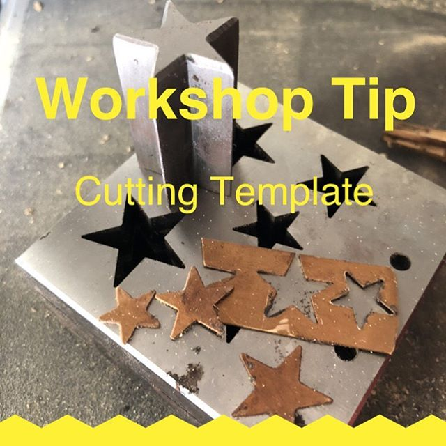 My latest workshop tip is something I have done for a while but only recently with fancy shapes. It's great having a cutting block for fancy shapes like these stars but on occasion I might have to cut a small piece of gold that I would be worried about placement in the block and I have on the odd time clipped the end of the star off slightly short or maybe the gold or silver for that matter is too thick to fit in the block. For examples like these I punch out a copper template maybe half a millimetre thick, then by super glueing it to the metal I want to cut my shape from on this instance it's a star. I can cut around the shape taking care not to touch the copper template and after it's pierced it is easy to file to the template and you get those even star shapes where every end of the star is even. It is easy to separate the two metals with a little heat as shown in the video clip you can see the yellow flame is the glue burning. I really used to hate making stars as they were awful to get even but now it's a breeze. . #benchjeweler  #jewellerymaker  #jewellerystudio  #jewellerytips  #jewellerydesigner  #piercingjewellery  #solderingjewellery  #instasmithy  #metalsmith  #metalsmithing  #metalsmithsociety  #goldsmith  #silversmith  #workshoptip  #benchpeg  #atthebench  #emerypaper  #silverjewelry  #makersgonnamake  #makersmovement  #benchtips #star #tutorial