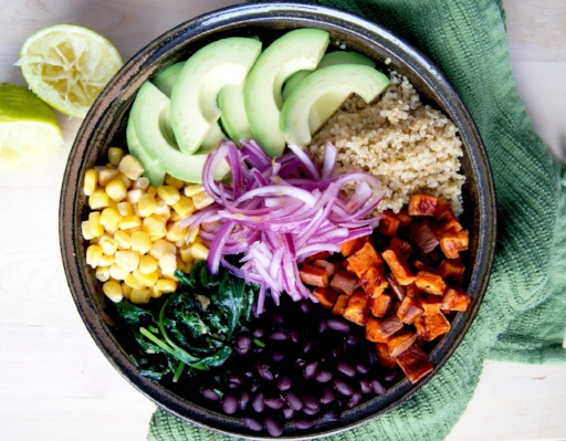 Nutrition Tip: Fill your plate with at least 50% (or more!) vegetables- they're good for your body and good for your brain, mood and happiness too.