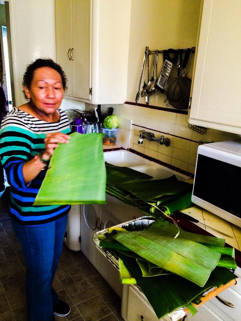 Hurrying to make tamales