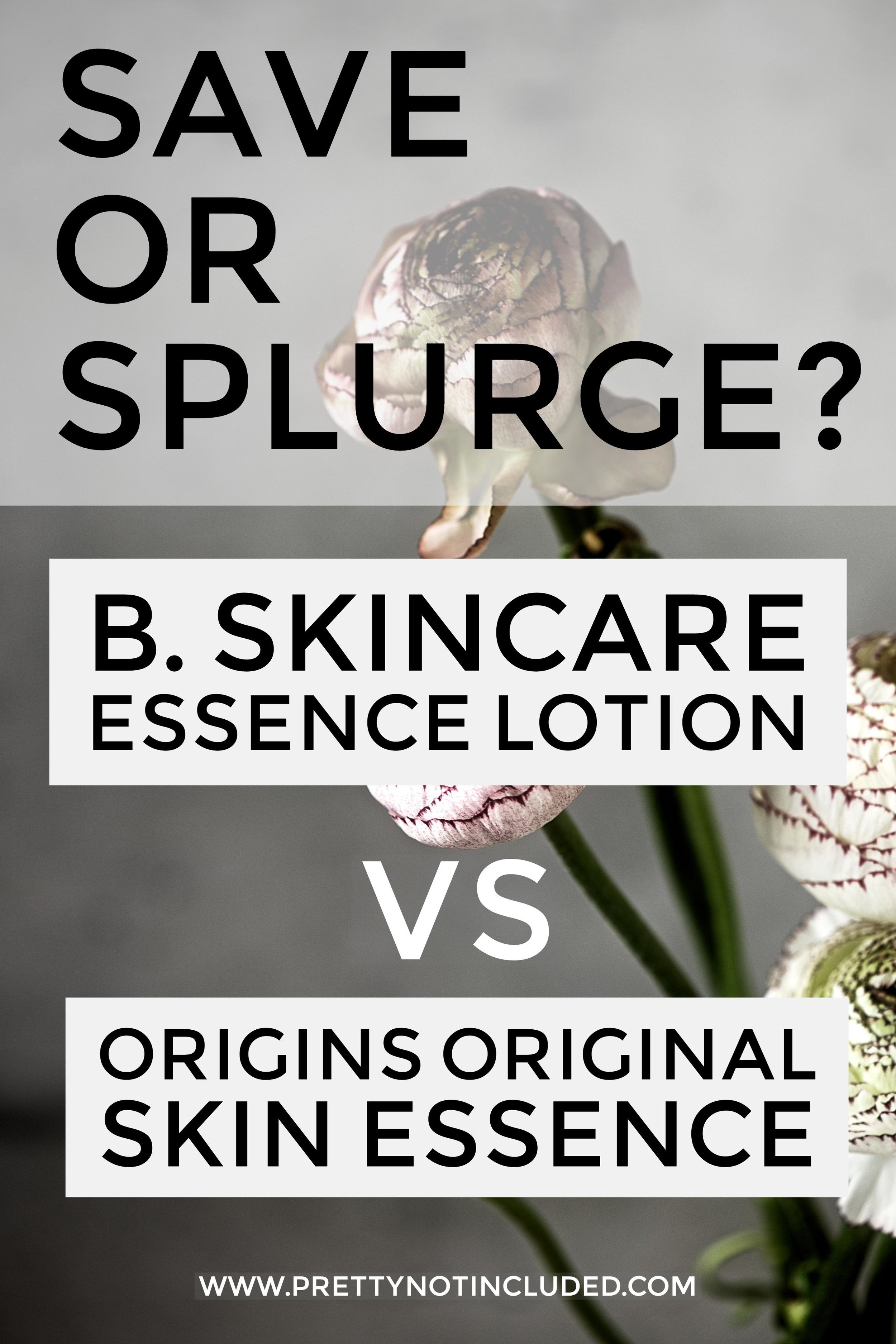 Save or splurge? Comparing the B. Skincare Essence Lotion and Origins Original Skin Essence with dual ferment complex. An essence is considered a vital step to a Korean skincare routine. Are Western brands creating products worthy of standing up to a Korean branded skin essence?
