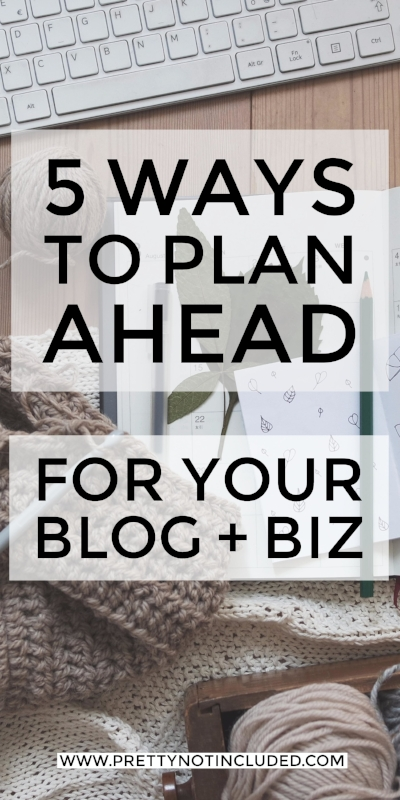 From 90 day planning cycles to why bullet journals are useful, here are  5 ways to plan ahead for your blog or biz in 2017.