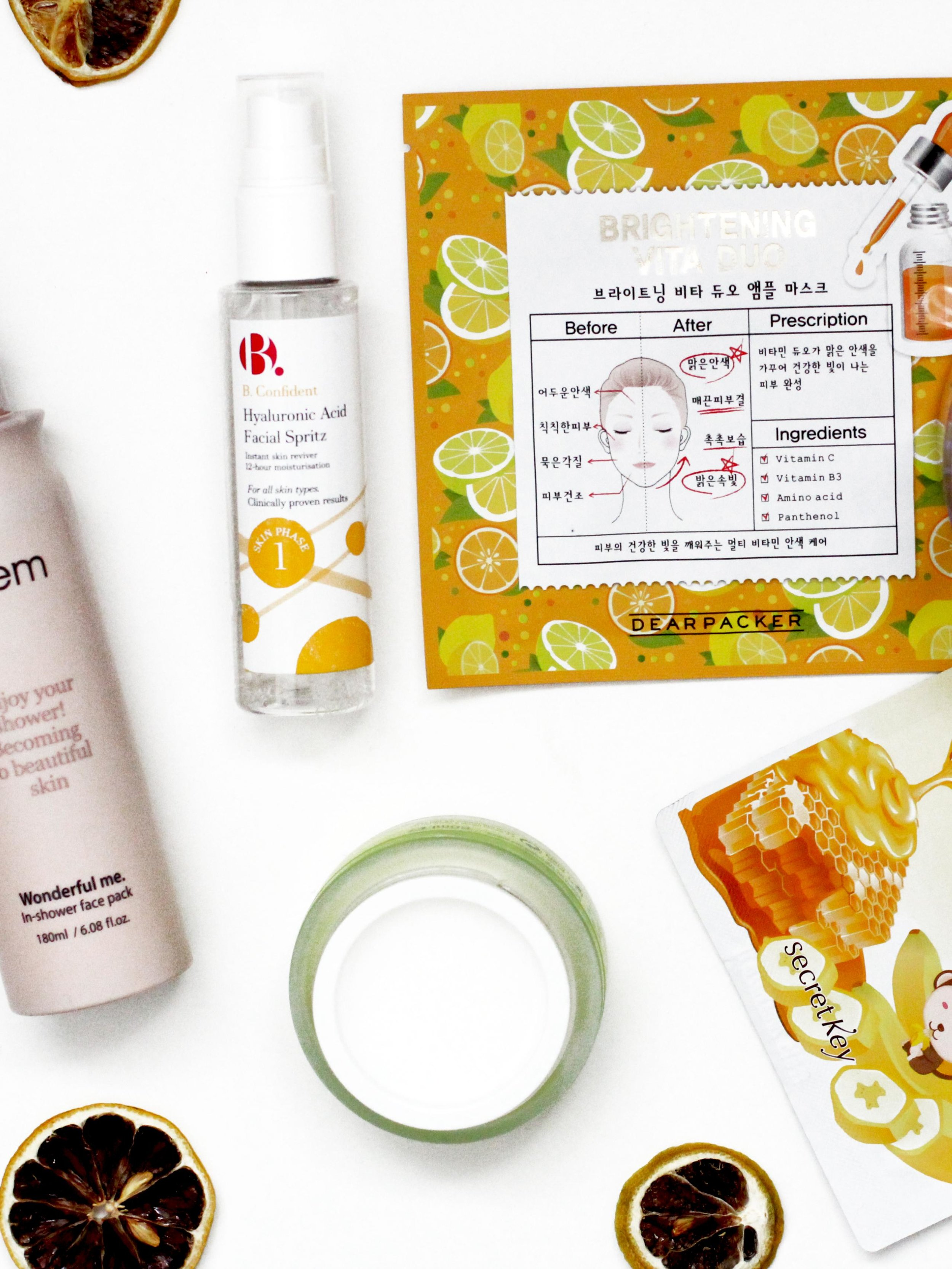Quick skincare pick me ups for the person with a busy routine. From in shower face masks to hydrating face mists on the go.