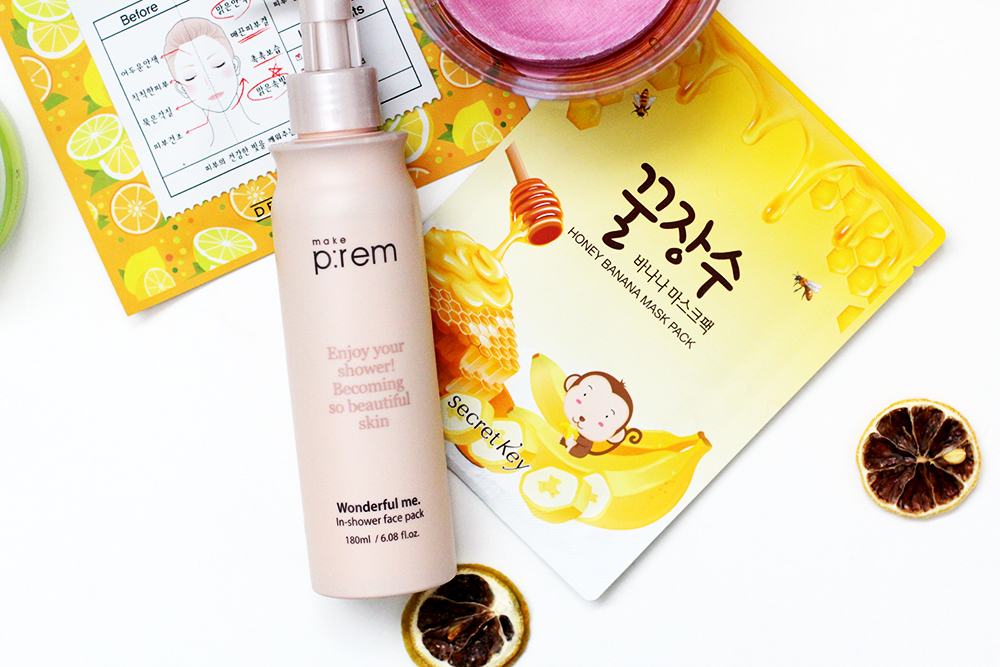 Quick skincare pick me ups for the person with a busy routine. From in shower face masks to hydrating face mists on the go. Make p:rem in shower face pack