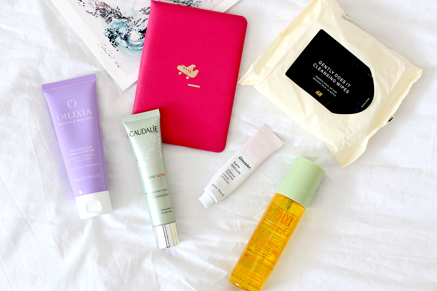A realistic travel skincare routine for hand luggage only