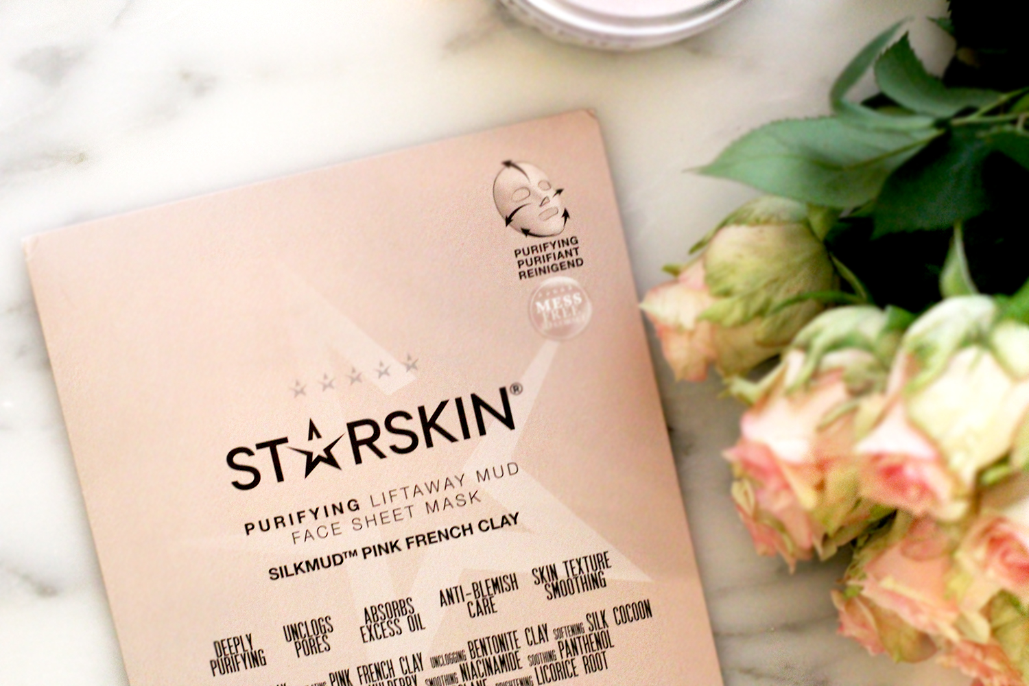 starskin beauty mud sheet mask silkmud