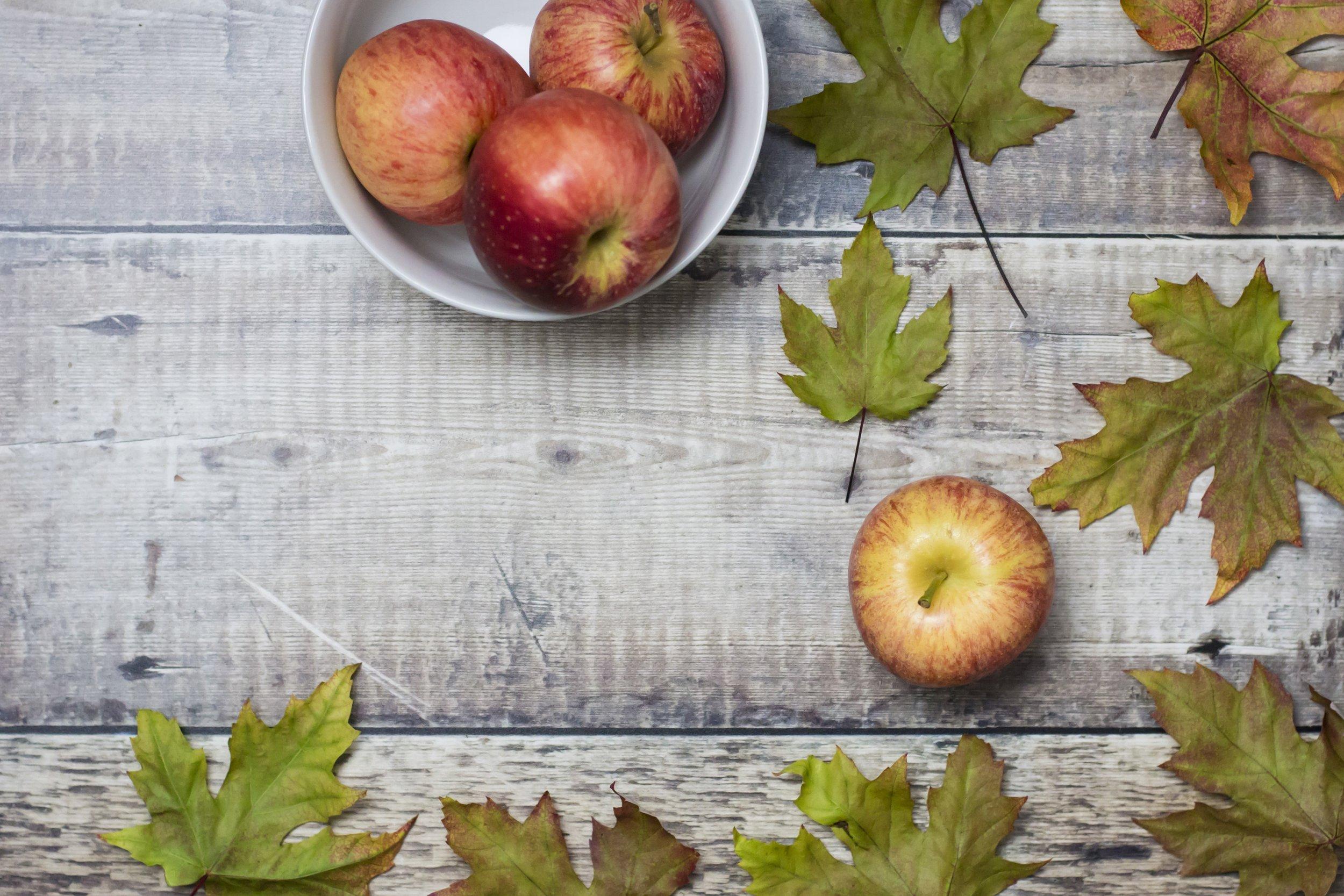 #thisuautumnlife October instagram hashtag project apple harvest rustic flatlay fall leaves
