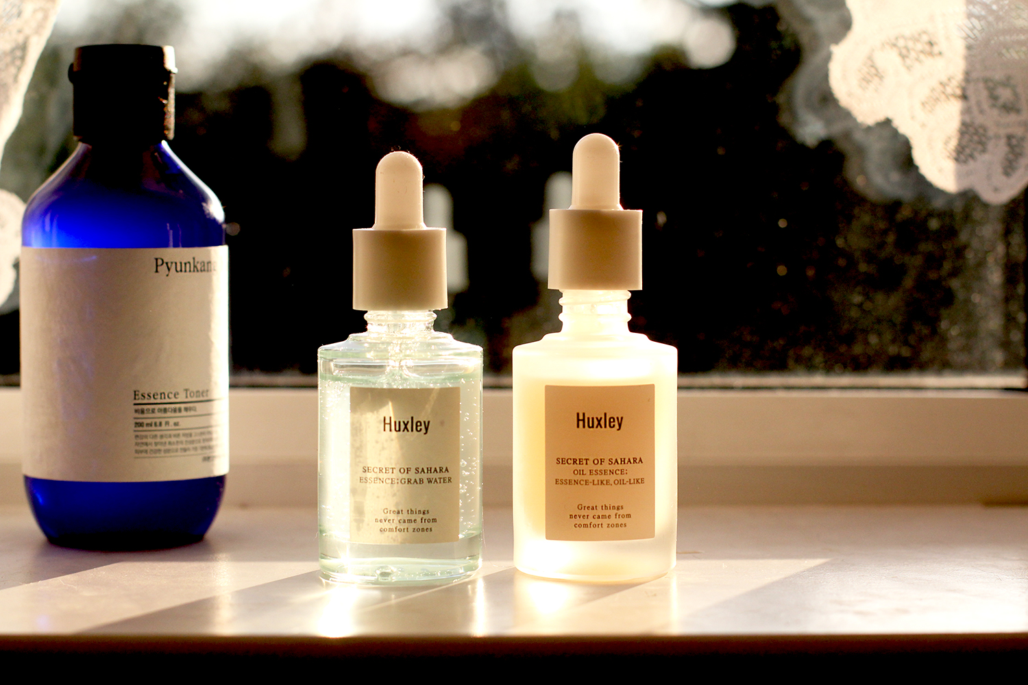 Huxley Oil Essence + Grab Water Essence - For hydrated, plump, juicy skin (without needing several layers)
