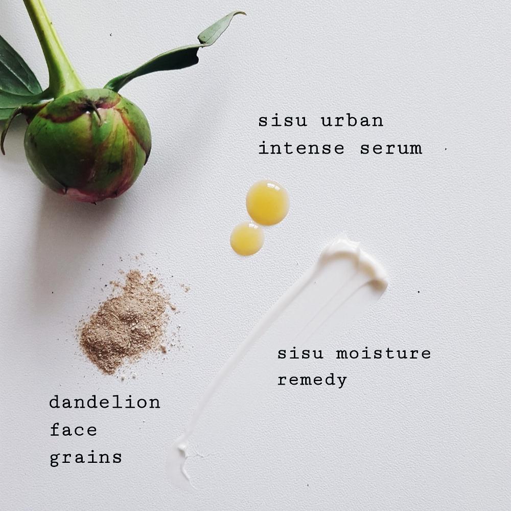 skincare favourites face grains, serum, lumene, aster and bay, sisu