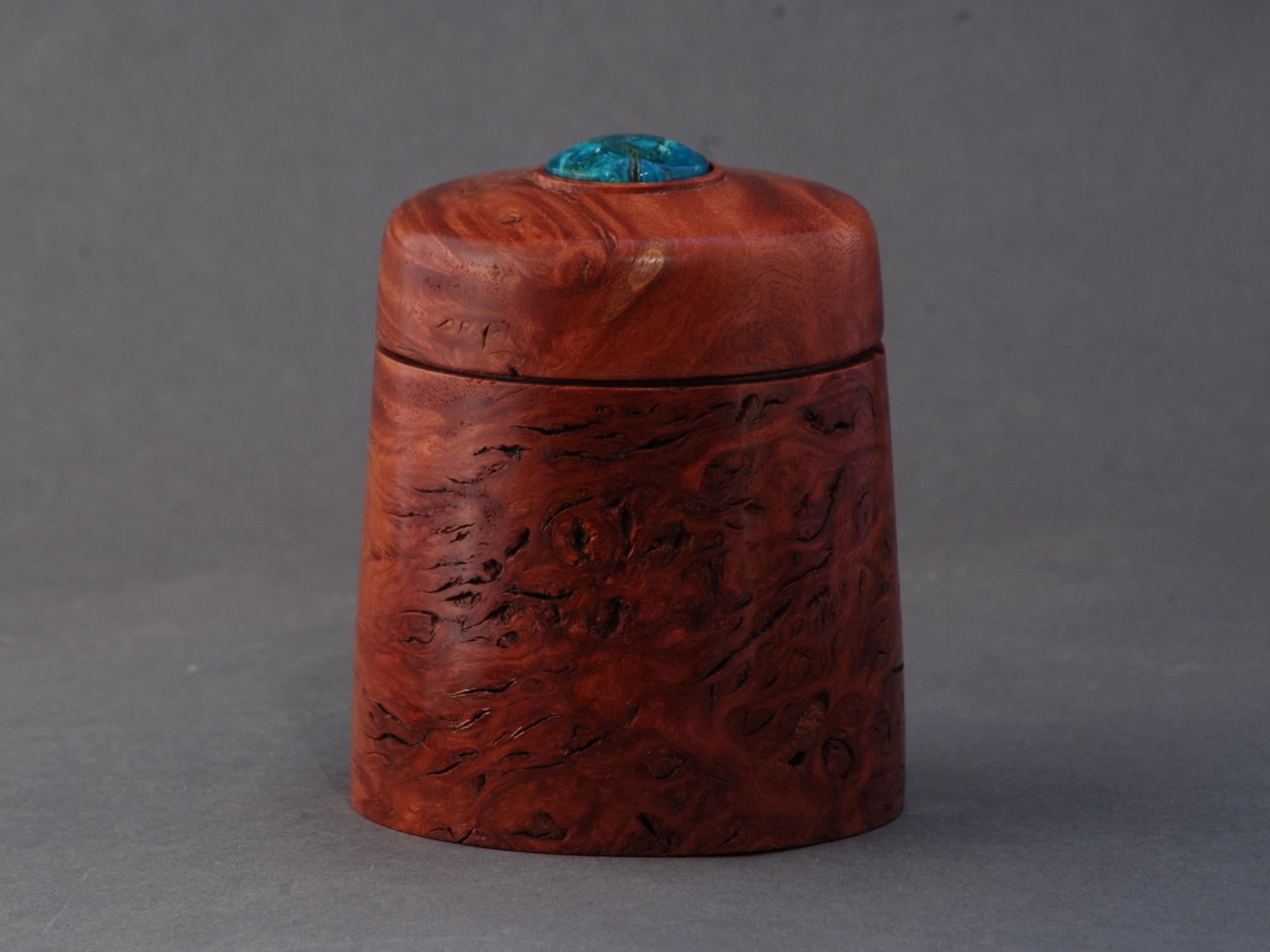 Jarrah Burl and Chrysocolla Box - $120