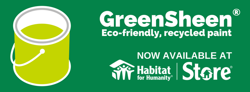 GreenSheen Recycled Paint Available now!