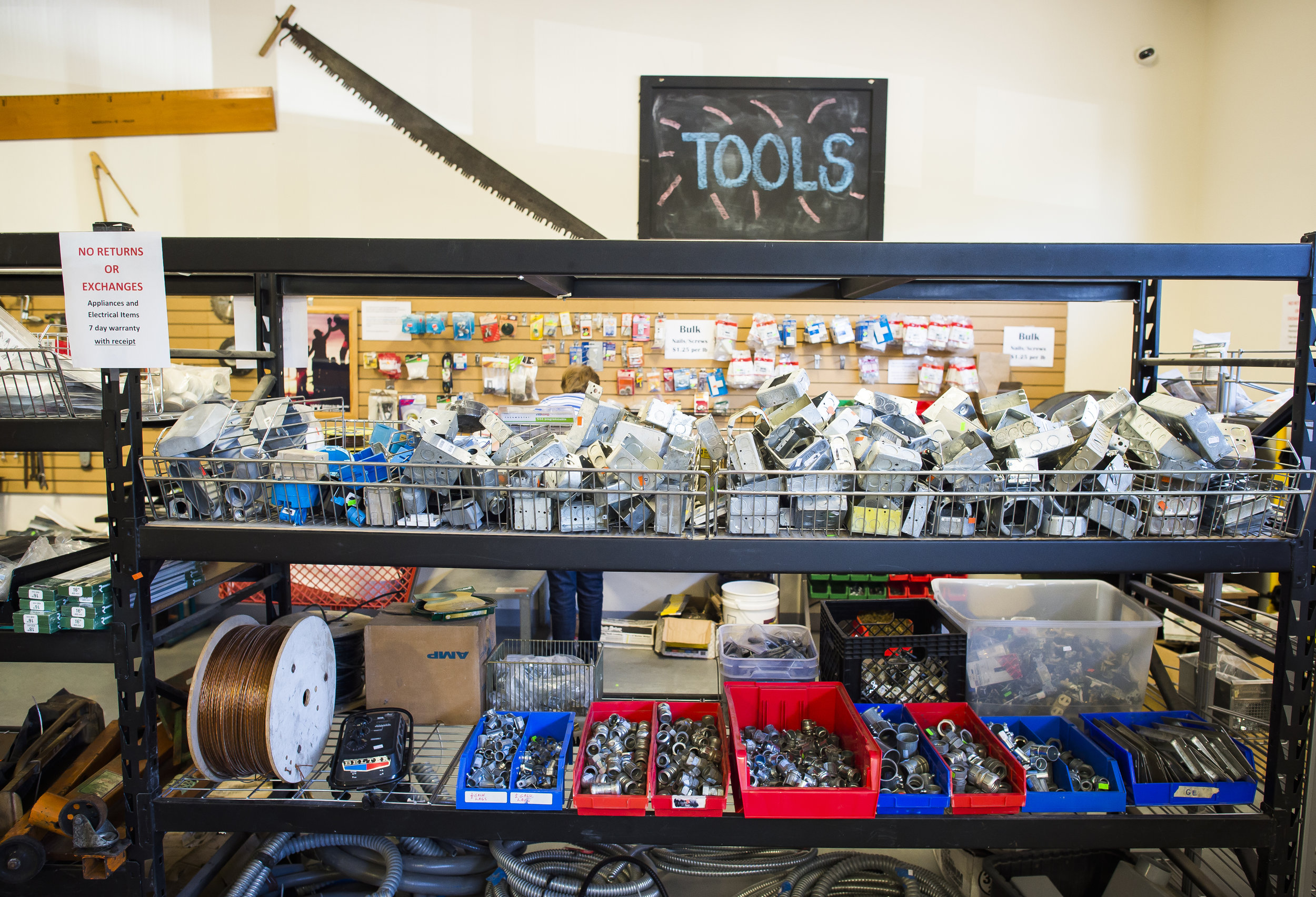 TOOLS   From hand tools to power tools, we carry a variety of tools that will help you get the job done. All power tools that we accept are in working condition.
