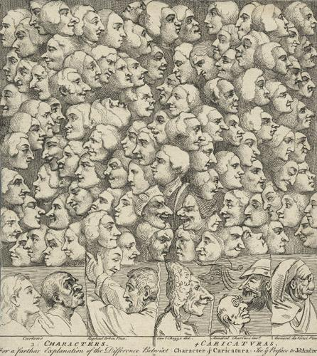 """William Hogarth's """"Characters and Caricaturas"""" (1743)"""