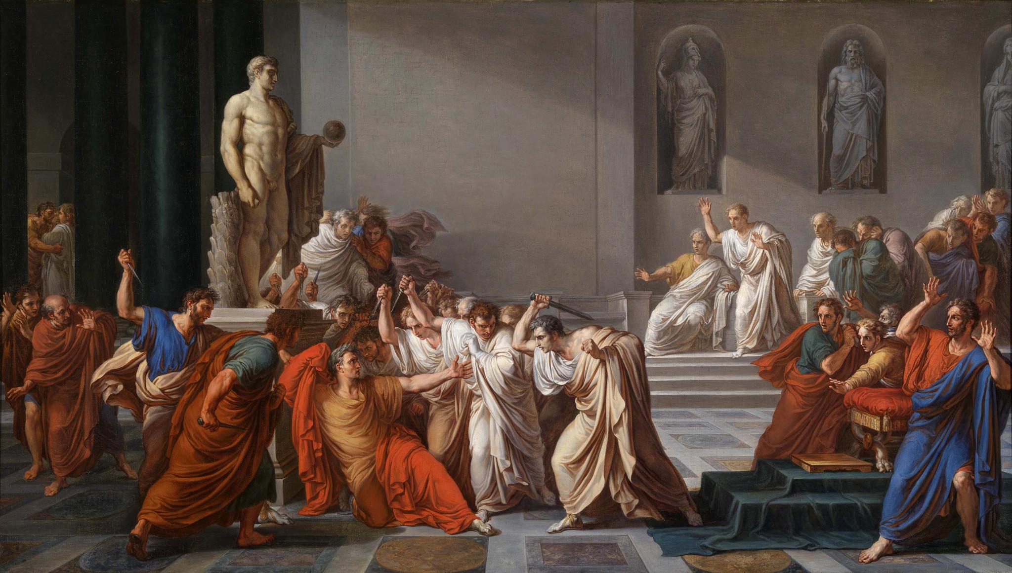 Vincenzo Camuccini, The Assassination of Julius Caesar (1804)