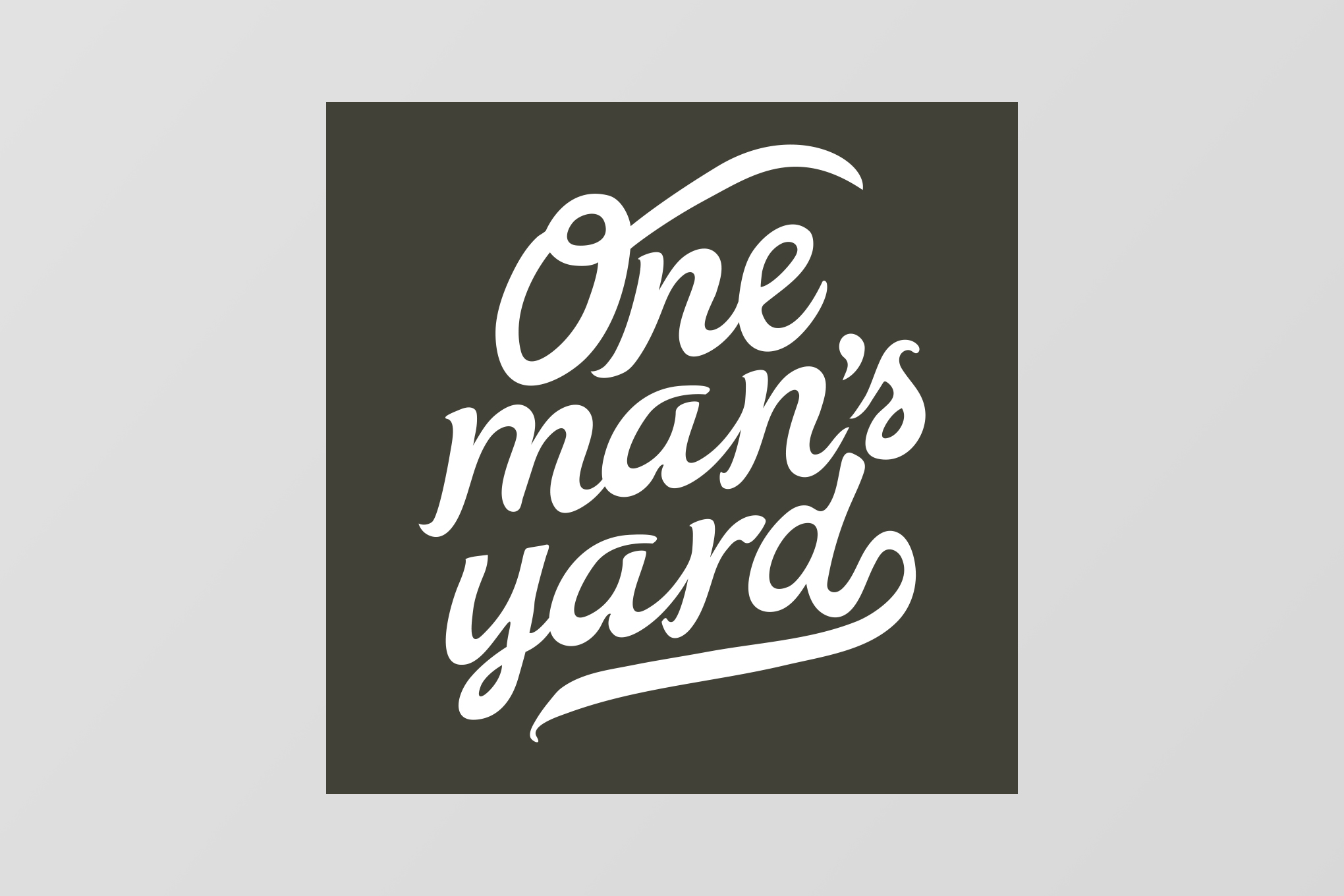 One Man's Yard Hand Drawn Logo