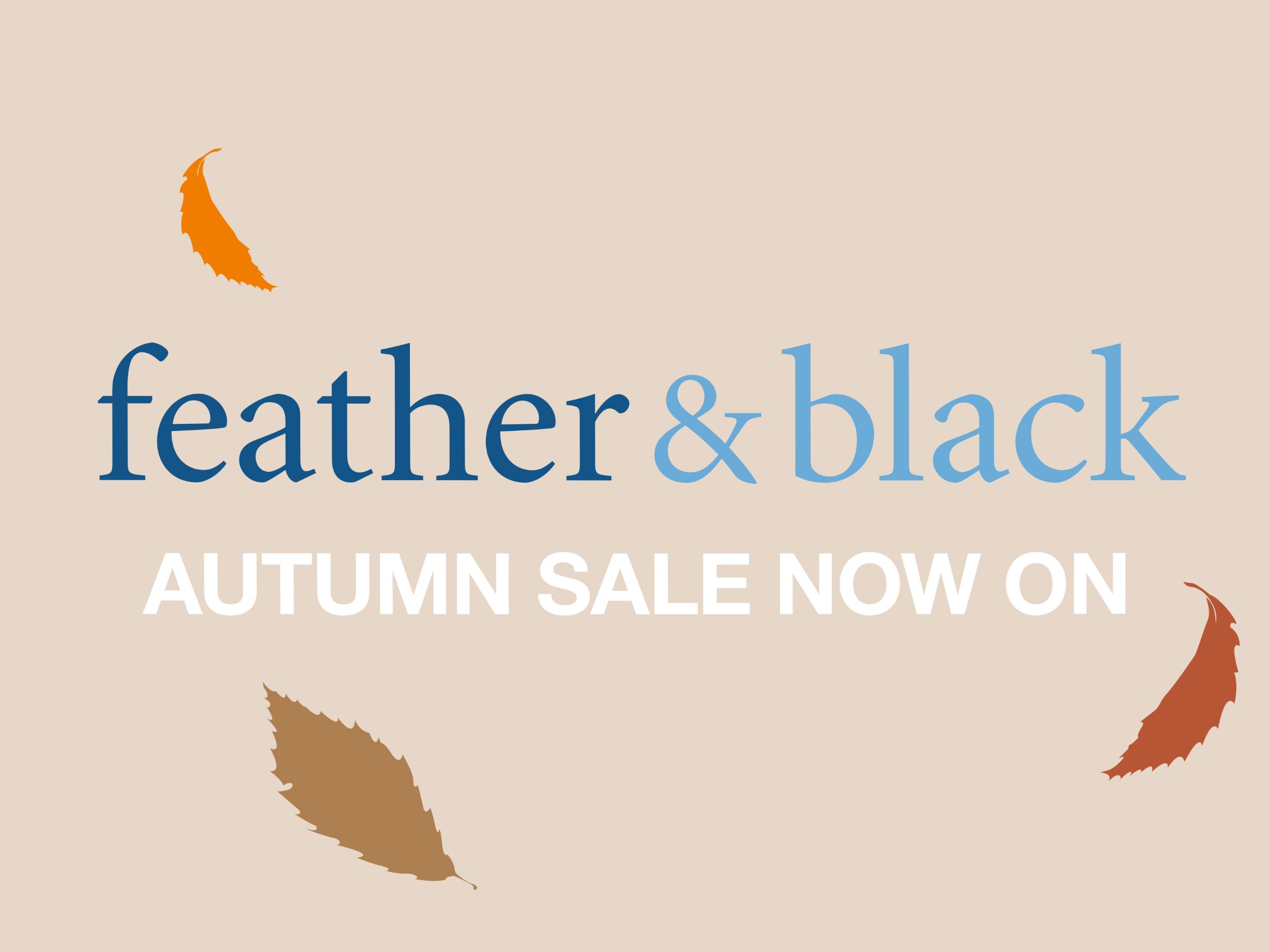 Feather & Black Autumn Sale Campaign