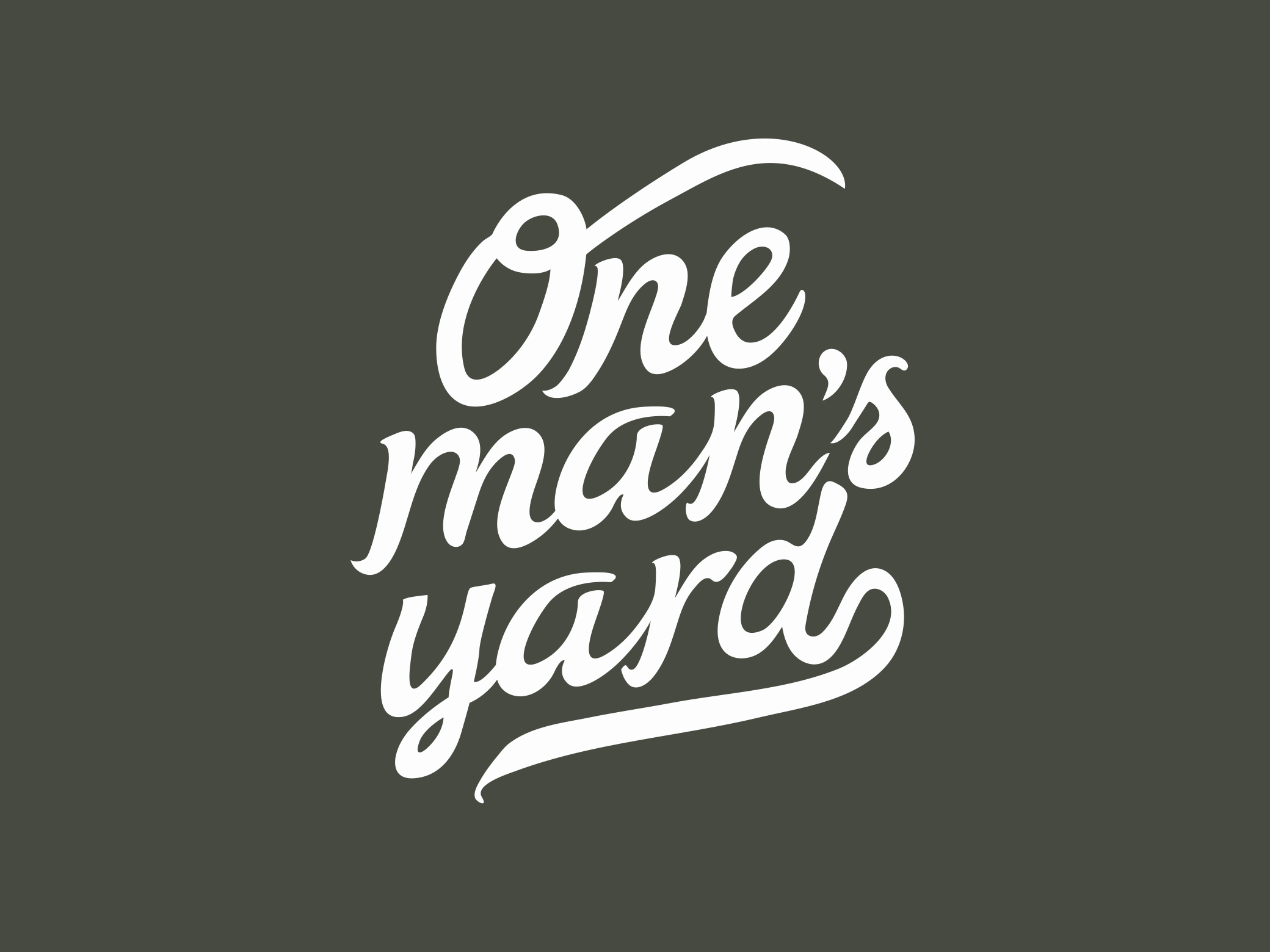 One Man's Yard Logo