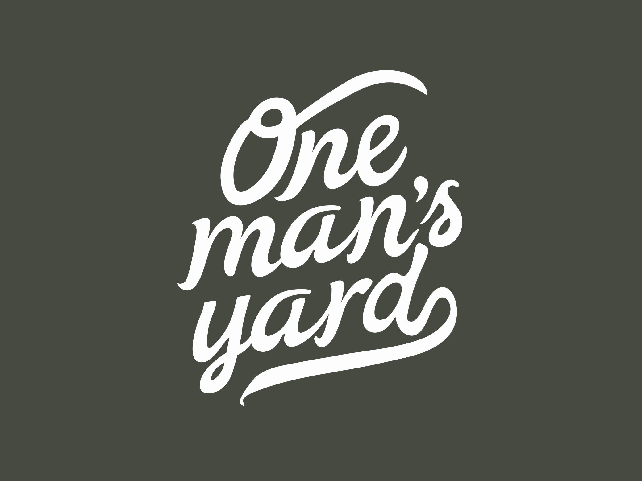 One Man's Yard Brand Identity