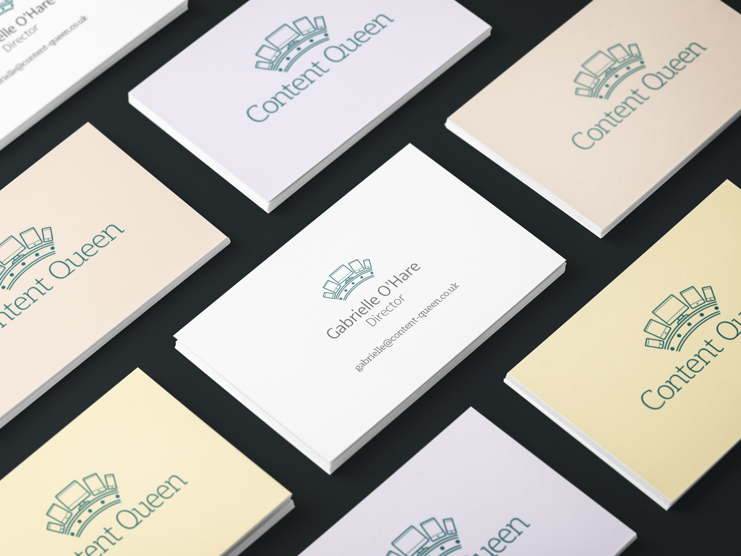 Content Queen Business Cards