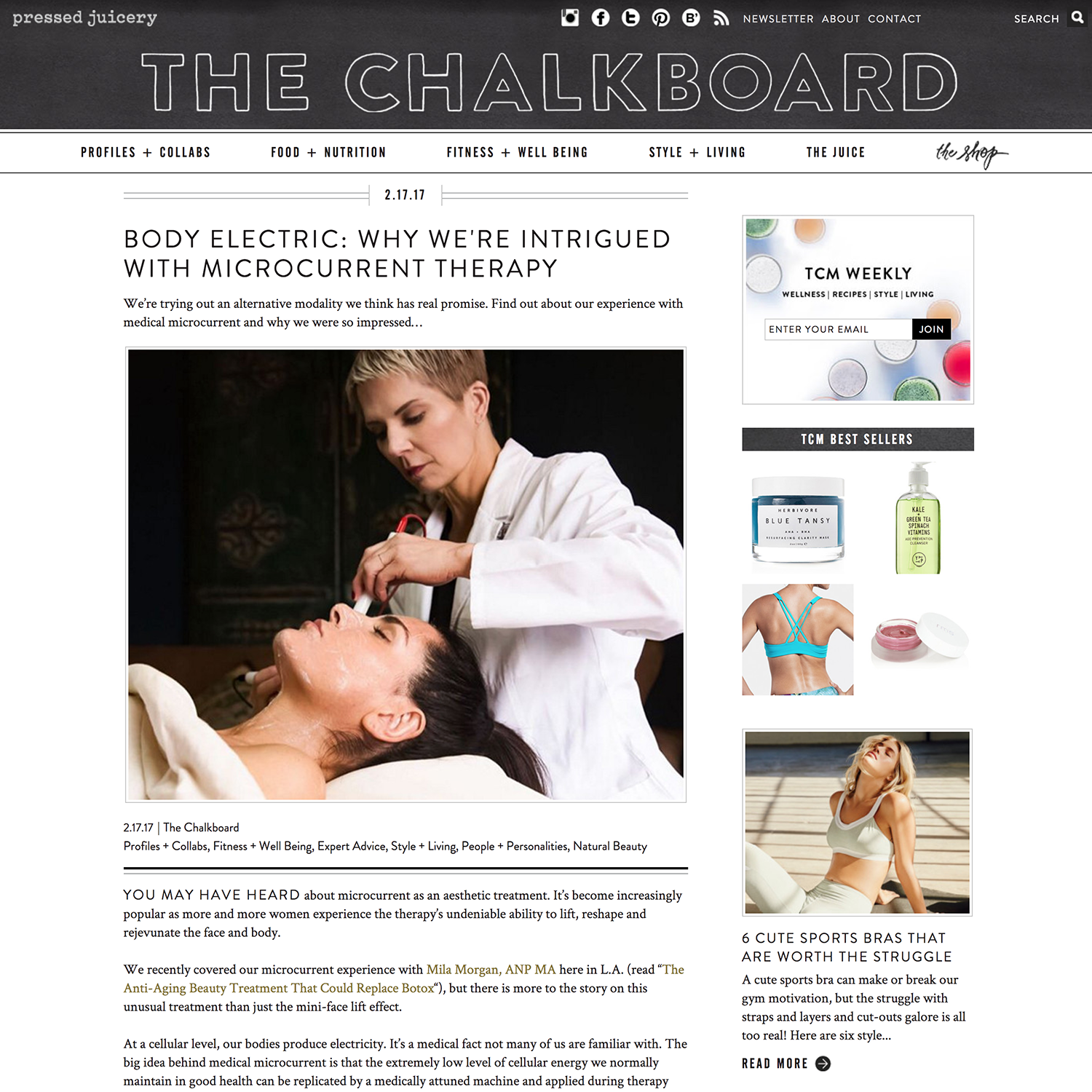 Chalkboard - Why We're Intrigued by Microcurrent Therapy - Mila Morgan Studio
