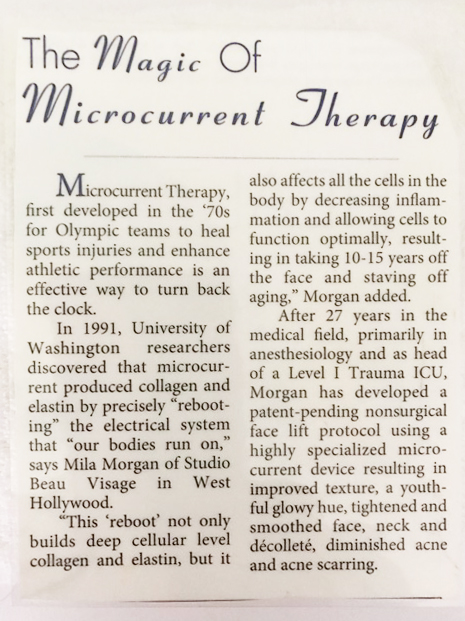 Beverly Hills Style - The Magic of Microcurrent Therapy - Mila Morgan Studio