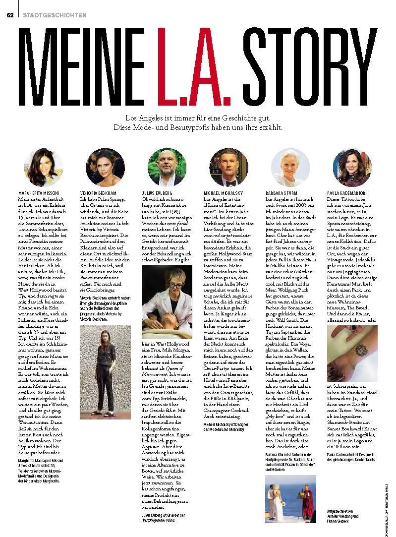 Copy of Magazin - Meine L.A. Story - Mila Morgan Studio - Microcurrent Therpy