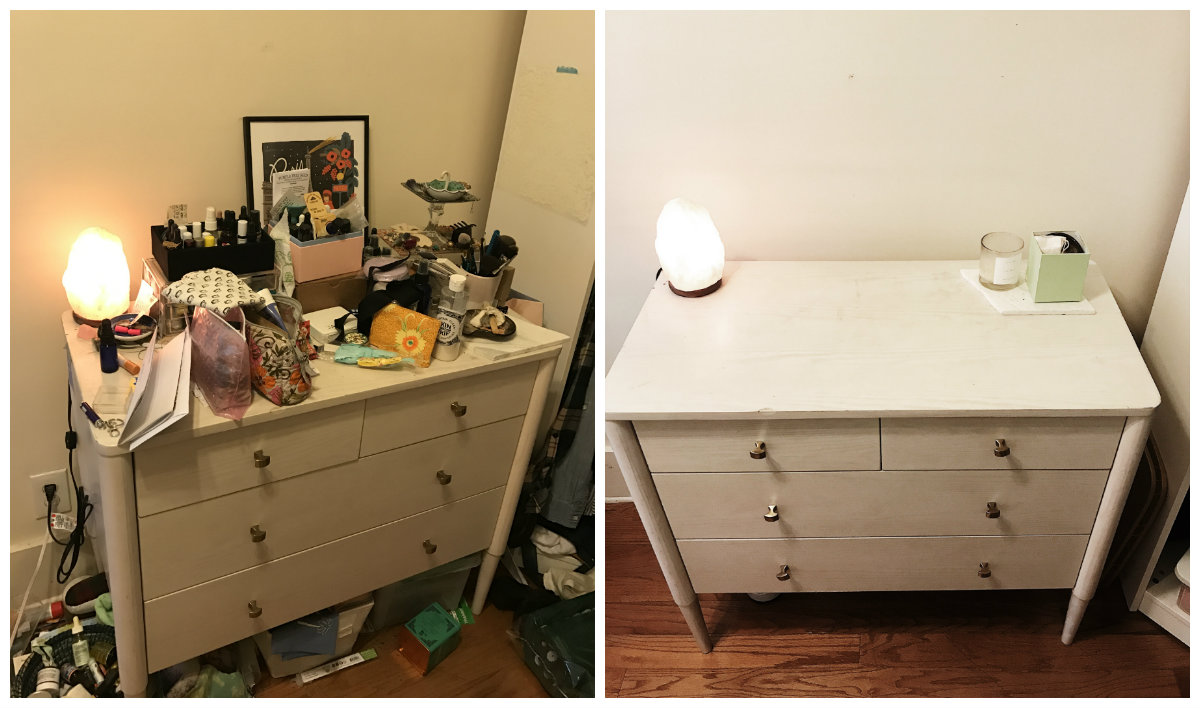 Before & After Tidying | Photo from Lisa Tselebidis